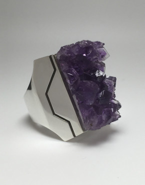 Y Axis Amethyst Ring Silver 2