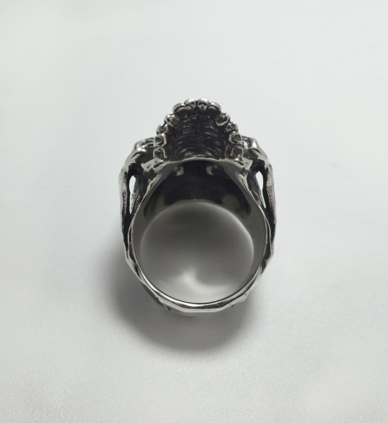aphotic Distressed Skull ring 01