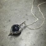 Intenebris by JS Iolite Eye pendant necklace