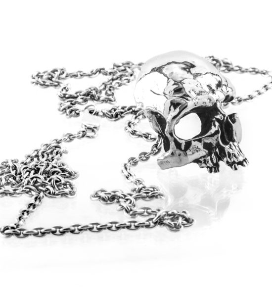 Intenebris-Large Fractured-Skull-Pendant-Necklace-sterling-silver