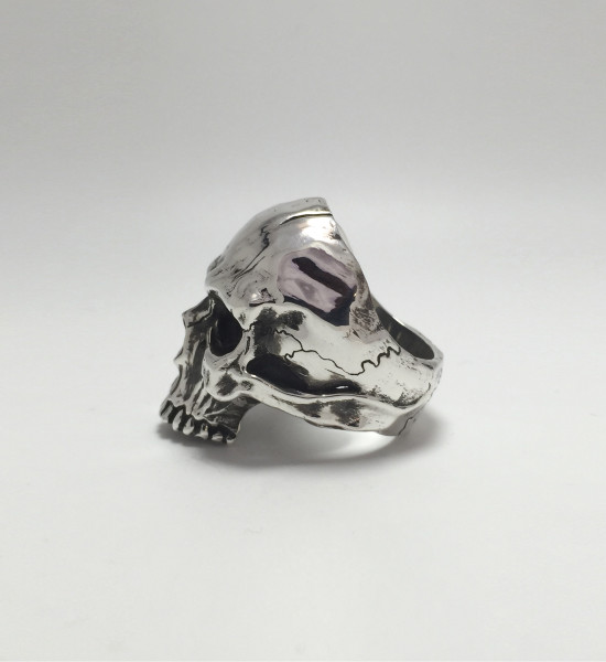 aphotic Distressed Skull ring 04