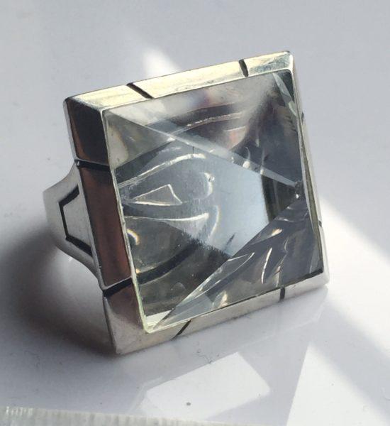intenebris by js aphotic quartz eye of horus pyramid ring