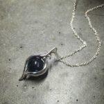 Intenebris by JS Iolite Eye pendant necklace