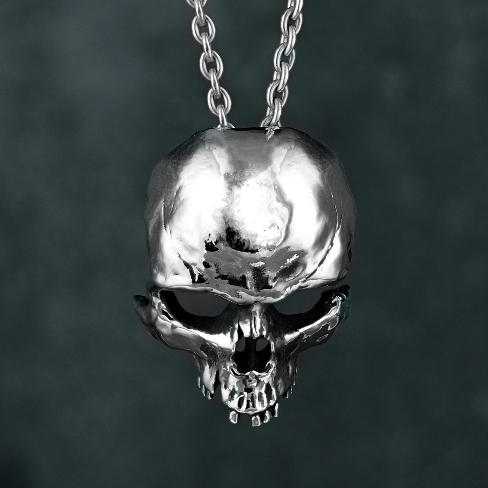 necklace pendants trace sil ant plated gold skull m product large pendant up lg silver sterling