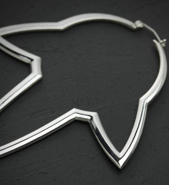 Intenebris Stalactite Hoop Earrings in high polish sterling silver