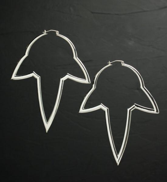 Intenebris large Stalactite Hoop Earrings in high polish sterling silver