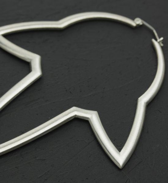 Intenebris Stalactite Hoop Earrings in satin sterling silver